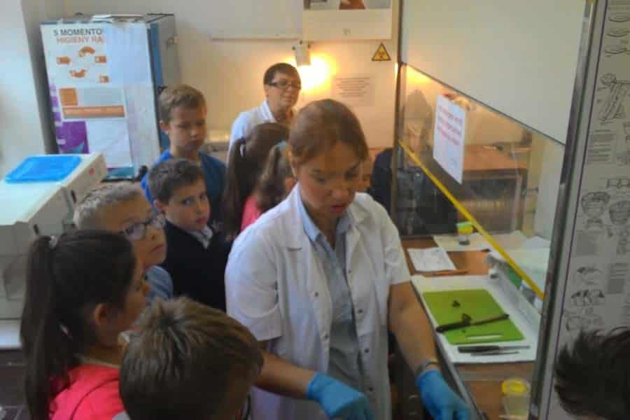Szósta b z wizytą w Klinice Patomorfologii
