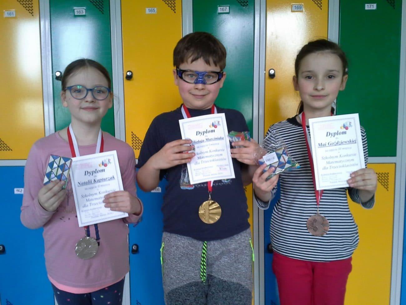 Szkolny Konkurs Matematyczny dla Trzecioklasistów