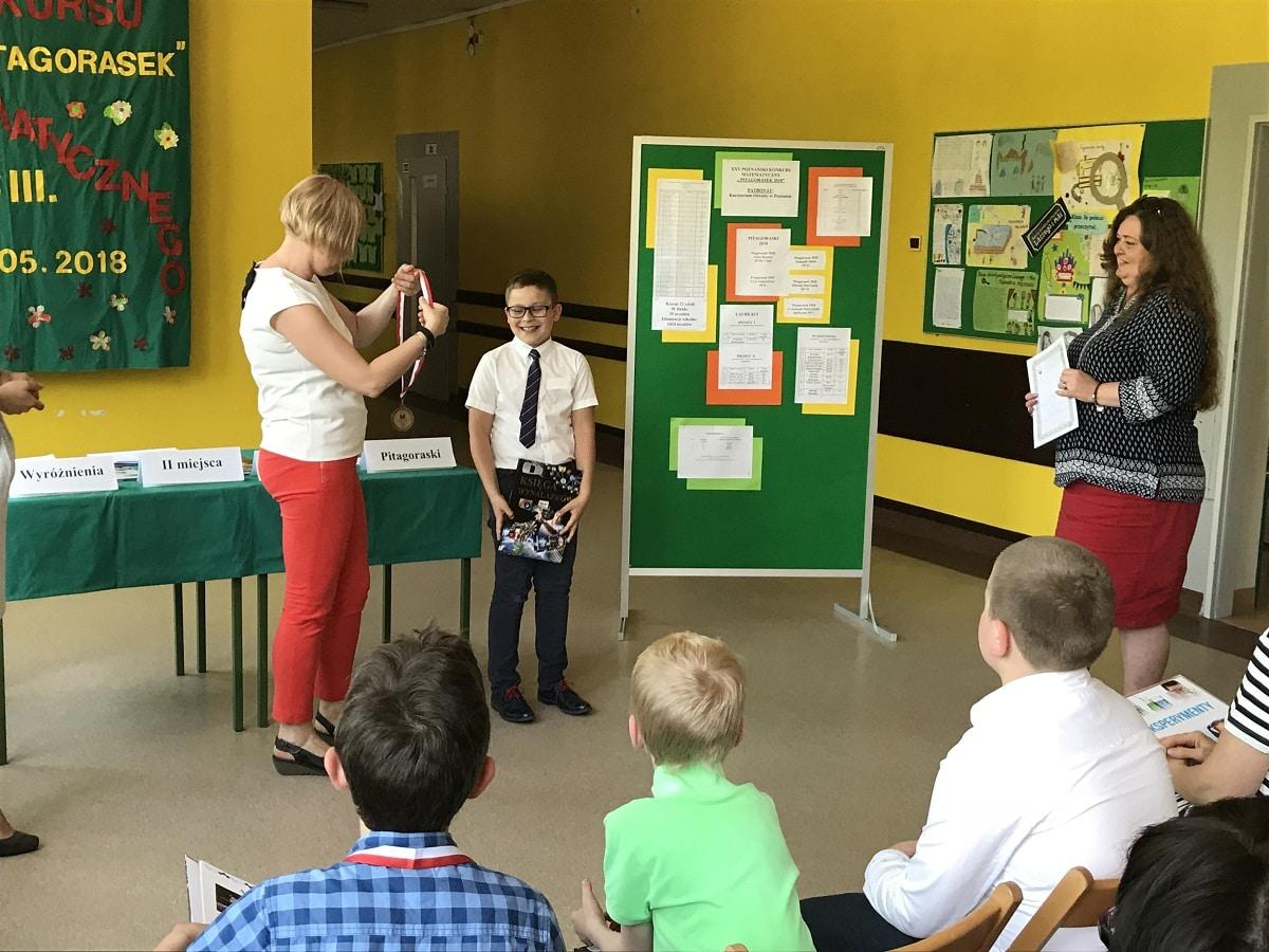 Sukces matematyczny Mikołaja Marciniaka z klasy IIIa