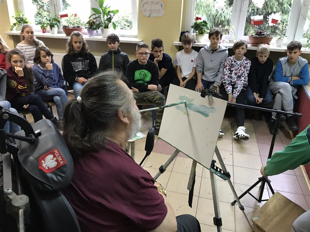 Spotkanie z niezwykłym artystą – Panem Jerzym Omelczukiem.