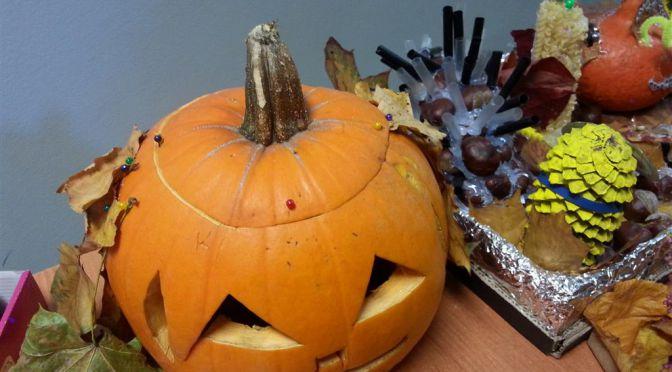 Wyniki konkursu na kompozycję z darów jesieni z Dyniakiem – Cudakiem w tle